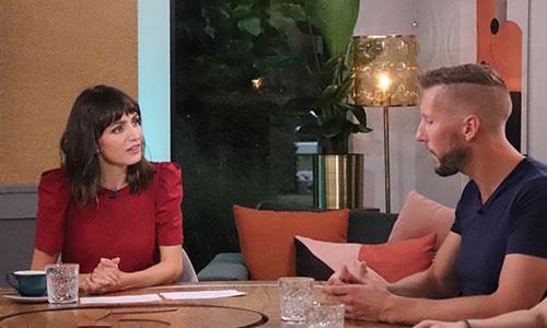 Stephan met Daphne Bunskoek bij 5 uur live